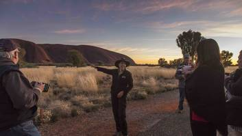 Exclusive sunrise on the Uluru Highlights Tour