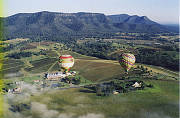 Balloons over Lindemann Winery